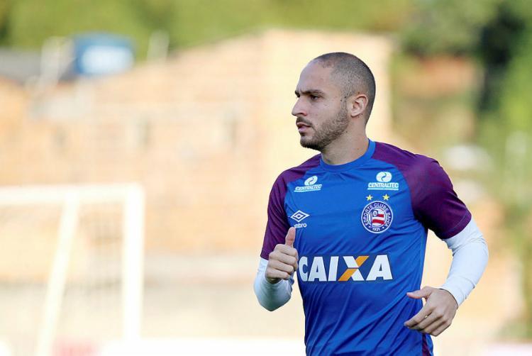 Meia chegou ao Tricolor em 2016 e fez 118 partidas - Foto: Felipe Oliveira l Ag. A TARDE