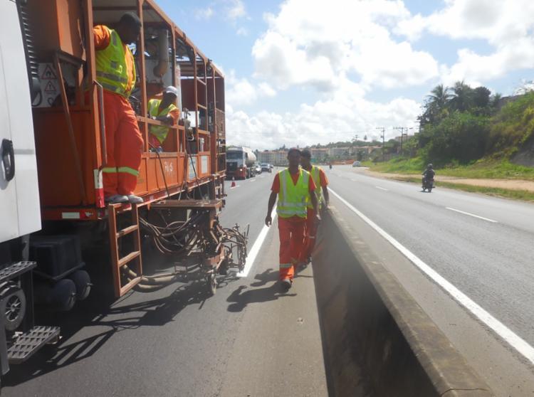 Serviços ocorrem nas rodovias das 7h às 17h - Foto: Divulgação | Concessionária Bahia Norte
