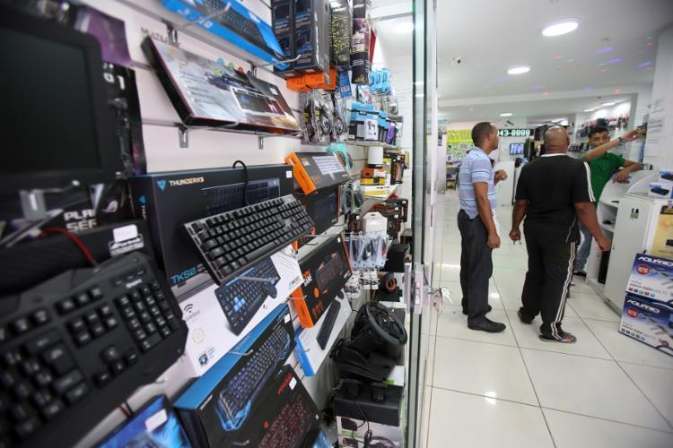 Na rua do Salete, predomínio das lojas de informática