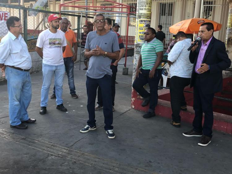 Trabalhadores realizam manifestação em frente à Estação da Calçada - Foto: Divulgação   Sindiferro