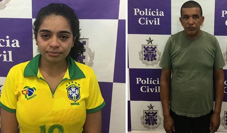 Priscila Bianca e Juvenal foram encaminhados ao Complexo policial do município - Foto: Divulgação | SSP-BA