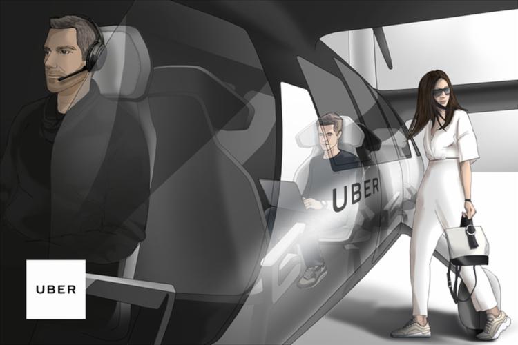 O Uber Air é a modalidade área por demanda da companhia, que que pretende realizar deslocamentos por meio de um veículo eVTOL - Foto: Divulgação