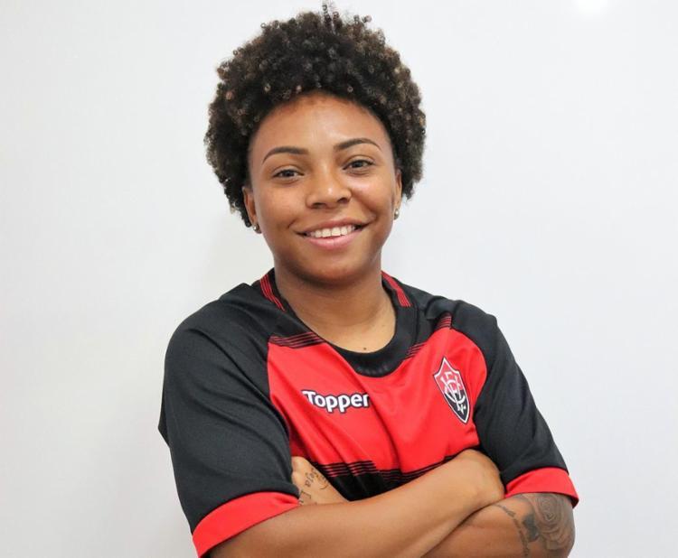 A jovem atacante chegou à Toca do Leão nesta sexta-feira, 28 - Foto: Divulgação | EC Vitória