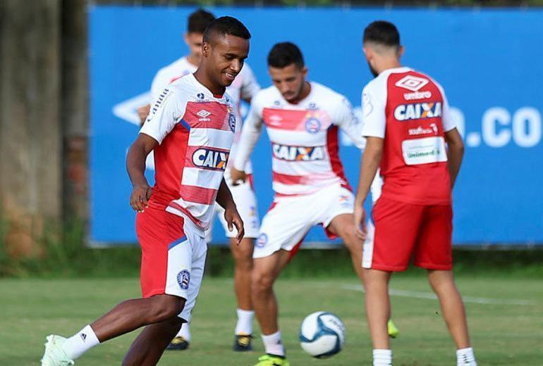 Tricolor conta com retorno de atacantes para tentar superar Vasco   Felipe Oliveira   EC Bahia   Divulgação