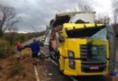 Dois motoristas ficam feridos em acidente com seis veículos na BR-242 | Foto: Reprodução | Macaubense Life