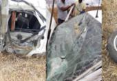 Homem fica ferido após perder o controle de carro e capotar na BA 263 | Foto: Reprodução | site Itambé Agora