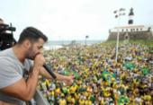 Simpatizantes fazem ato Pró-Bolsonaro no Farol da Barra | Foto: Luciano Carcará | Ag. A TARDE