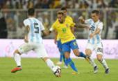 Com gol nos acréscimos, Brasil derrota Argentina no Superclássico | Foto: AFP