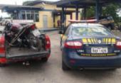 Motocicleta furtada é recuperada pela PRF na BR-101 | Foto: Ascom | PRF