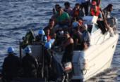 Fragata brasileira encontra 31 imigrantes sírios à deriva no Mediterrâneo | Foto: Reprodução | Twitter | @DefesaGovBr
