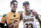 Com Neymar na torcida, Medina e Ítalo vão às quartas | Damien Pouleno l WSL