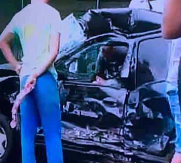 A colisão ocorreu na altura do viaduto do CAB - Foto: Reprodução   TV Record