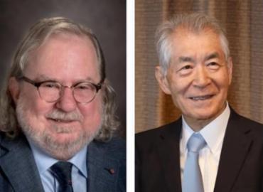 O americano James P. Allison e o japonês Tasuku Honjo - Foto: Divulgação