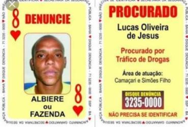 Oito de Copas do Baralho do Crime e comparsa são mortos em Jauá | Divulgação | SSP