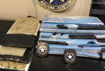 Drogas avaliadas em 2 milhões são apreendidas no aeroporto de Salvador | Divulgação| Receita Federal