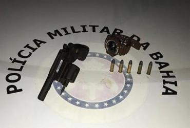 Suspeito é detido com arma e munições após tentativa de assalto no Imbui | Divulgação | SSP-BA