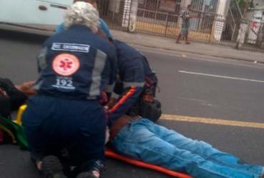 Pedestre e motociclista ficam feridos em acidente nos Mares | Cidadão Repórter | Via WhatsApp