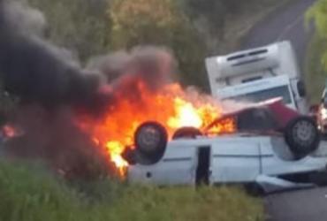 Colisão provoca duas mortes e deixa três feridos na BA-489 | Reprodução | Teixeira News