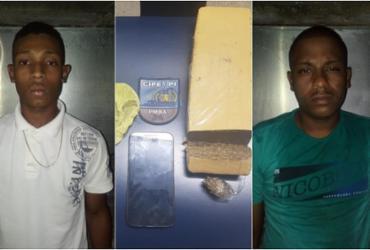 Suspeitos são flagrados com drogas em Camaçari | Divulgação | SSP-BA