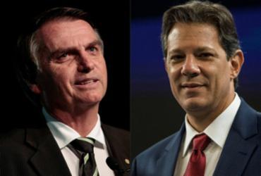 No Twitter, Haddad e Bolsonaro trocaram mensagens ríspidas   AFP