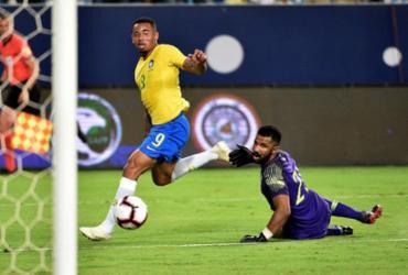 Sem brilho, Brasil vê Jesus desencantar e vence amistoso com a Arábia Saudita | Fayez Nureldine l AFP