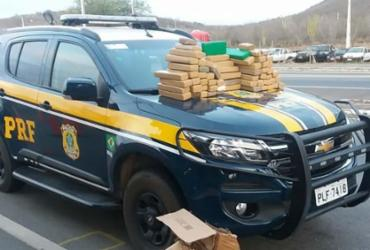 PRF apreende 127 kg de maconha e prende suspeito na BR-116 | Divulgação | PRF