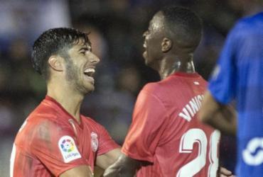 Vinicius Junior dá assistência, Real Madrid faz 4 e encaminha vaga na Copa do Rei   Jorge Guerrero l AFP