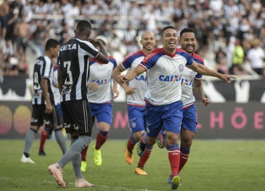Com gol de Edigar Junio, Bahia vence confronto direto com o Botafogo e sobe na tabela | André Fabiano l Estadão Conteúdo