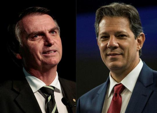 Bolsonaro tem 57% dos votos válidos, contra 43% de Haddad, aponta pesquisa | AFP