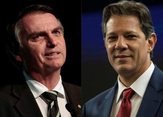Bolsonaro tem 59% e Haddad tem 41% na disputa à Presidência, diz pesquisa | AFP