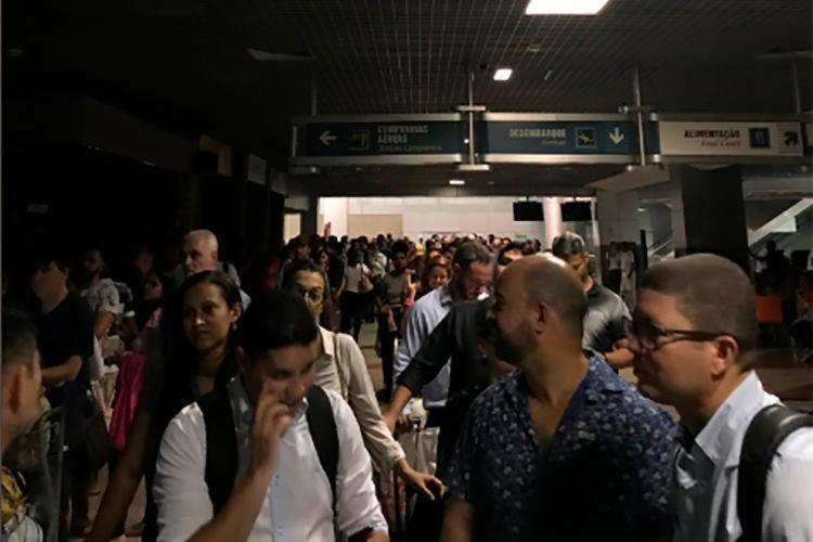 Em outubro, o rompimento de um cabo de energia também provocou um apagão no aeroporto - Foto: Reprodução | Twitter