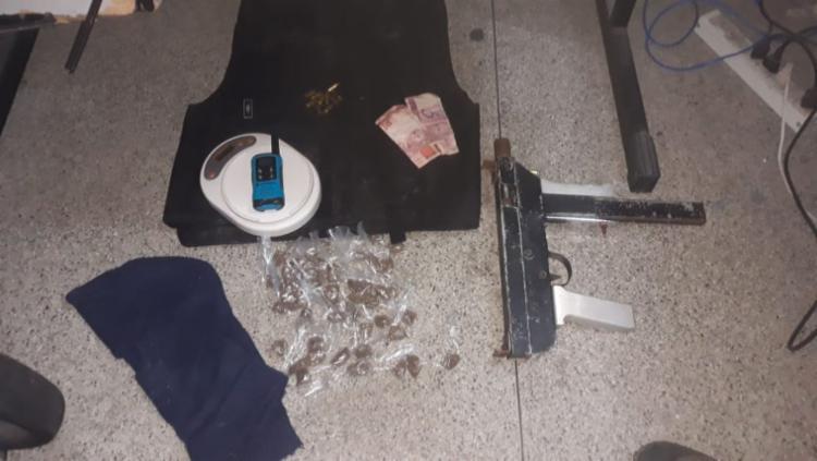 Materiais foram apreendidos após o confronto com os suspeitos - Foto: Divulgação | SSP-BA