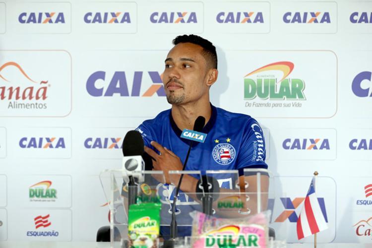 Vice-artilheiro do Bahia na temporada 2018, ao lado de Zé Rafael, o atacante tem 11 gols em 44 jogos - Foto: Felipe Oliveira | EC Bahia