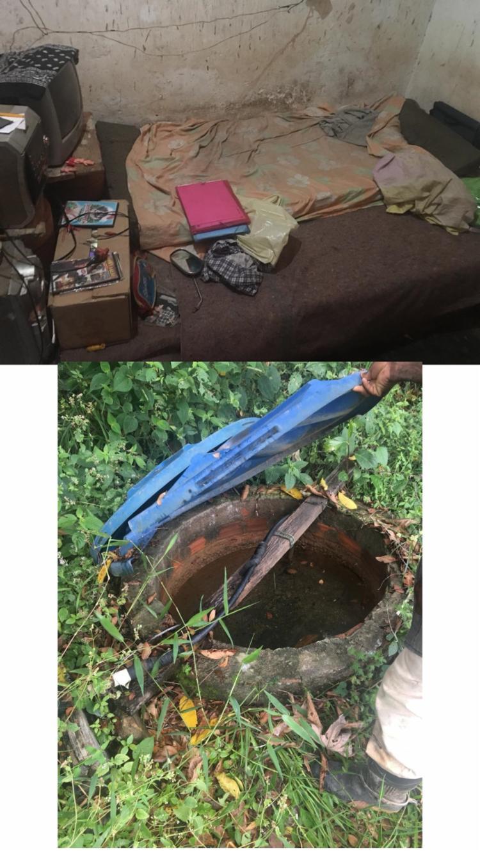 Os dois rapazes encontrados, viviam em um alojamento em más condições de saúde e higiene, sem água potável