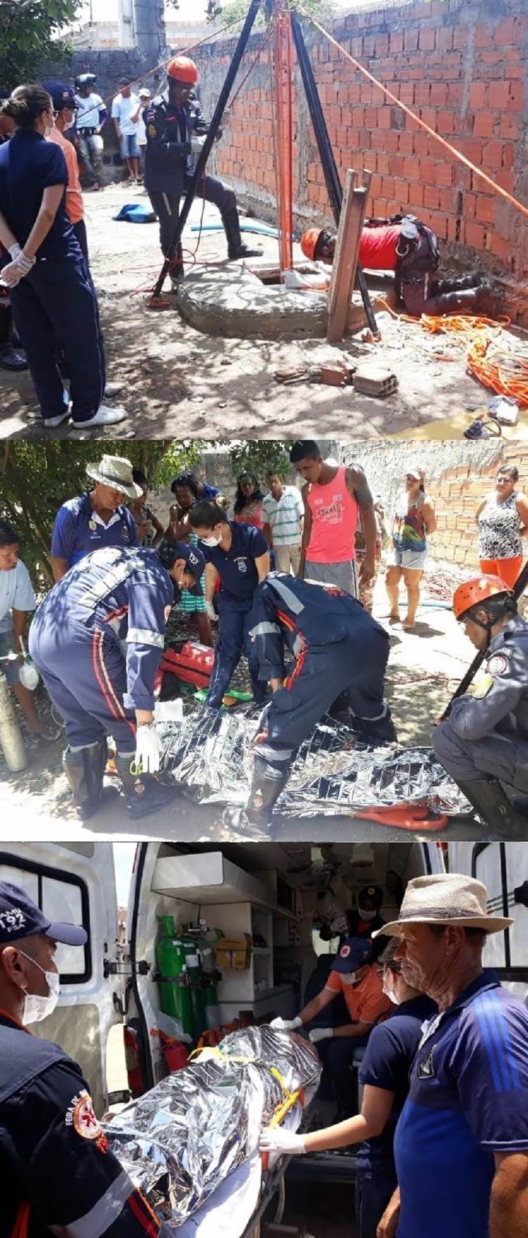 Os socorros foi dado pela Ambulância do Serviço de Atendimento Móvel de Urgência (Samu), e durou aproximadamente duas horas e meia