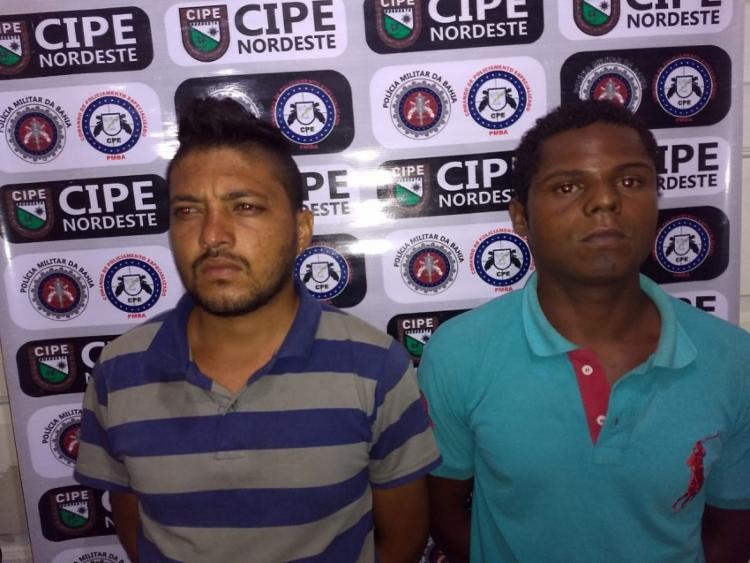 Com Ailton Alves de Jesus, Lucas Santos foram encontrados 51 gramas de maconha - Foto: Divulgação | SSP