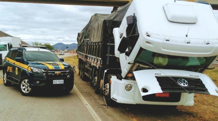 Suspeito informou que comprou o caminhão de um homem em Guaraci, em Pernambuco - Foto: Divulgação | PRF-BA