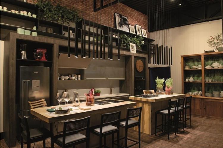 Cozinha compartilhada, projeto dos arquitetos Luiz Claudio Motta e Marcus Lima - Foto: Marcelo Negromonte / Divulgação