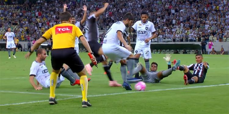 Vozão ficou no empate em casa com o Alvinegro carioca - Foto: Reprodução l SporTV