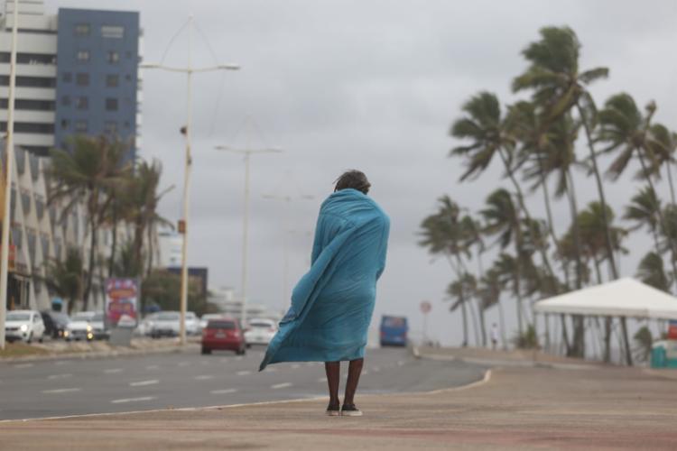 Também há registro de ventos fortes no litoral soteropolitano