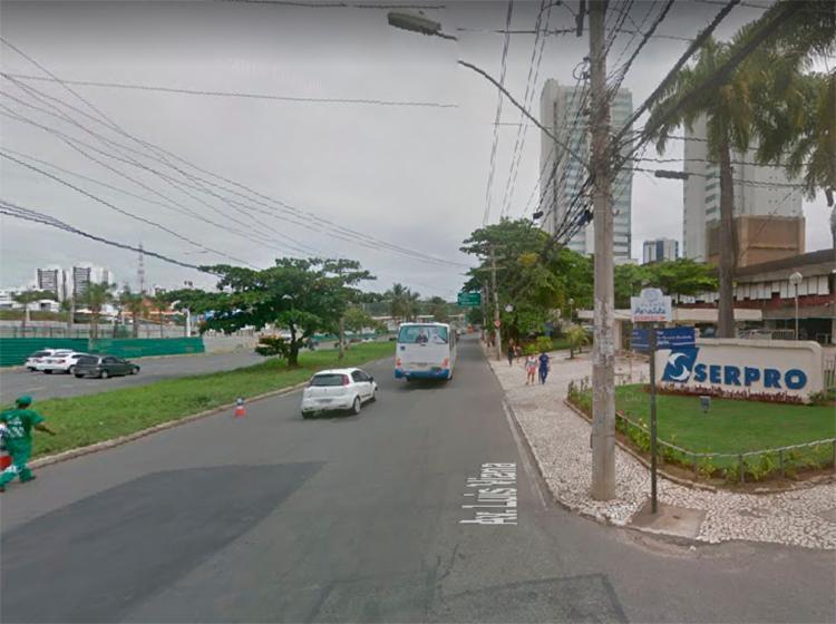 A colisão ocorreu na marginal Imbuí, nas proximidades da empresa Serpro - Foto: Reprodução | Google Maps