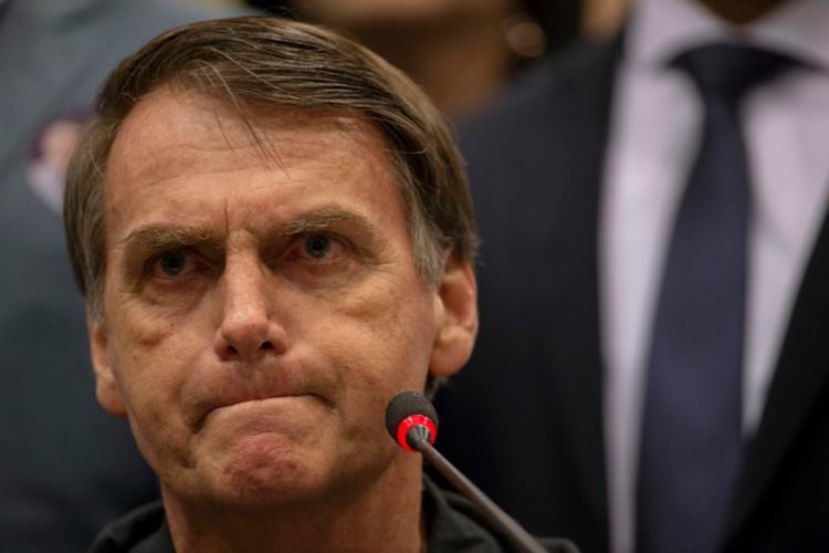 Governador Rui Costa, do PT (partido do candidato à presidência Fernando Haddad), postou um vídeo do oponente Jair Bolsonaro (PSL) - Foto: Mauro Pimentel | AFP