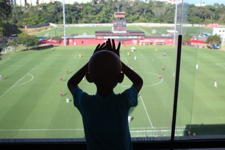 As crianças assistiram ao jogo entre Vitória e Ponte Preta - Foto: Humberto Oliveira | EC Vitória