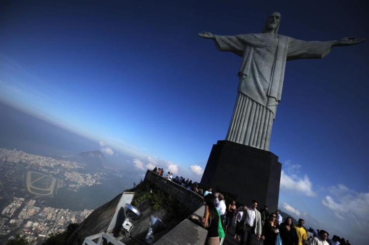 A imagem se transformou em um dos mais conhecidos pontos turísticos do mundo - Foto: Vanderlei Almeida | AFP