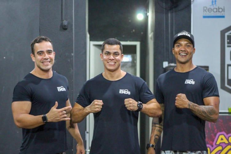 Vítor Dourado, César Melo e Fred Figueredo são coach's e sócios da academia de Crossfit Ekos - Foto: Divulgação