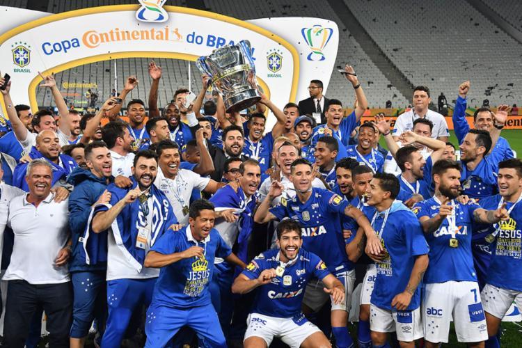 Mineiros voltaram a vencer paulistas no confronto e faturaram a sua 6ª Copa do Brasil - Foto: Nelson Almeida l AFP