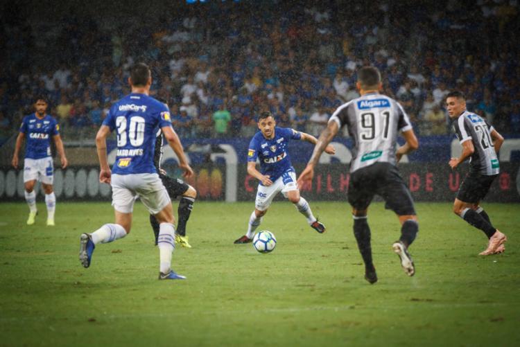 O Vozão surpreendeu a Raposa e subiu para a 14ª posição - Foto: Vinnicius Silva l Cruzeiro