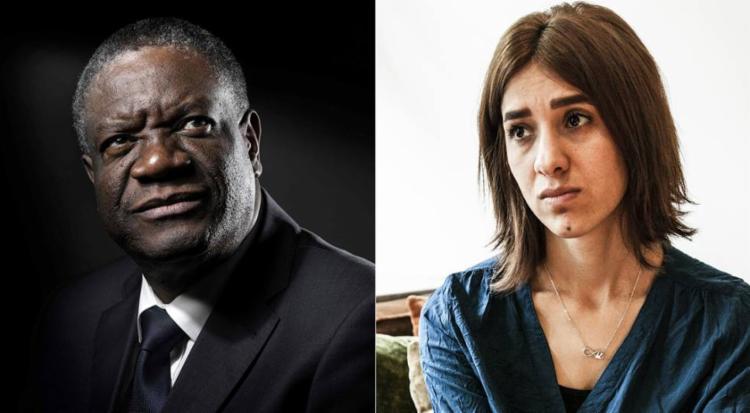 Denis Mukwege e Nadia Murad foram anunciados como ganhadores nesta sexta - Foto: AFP