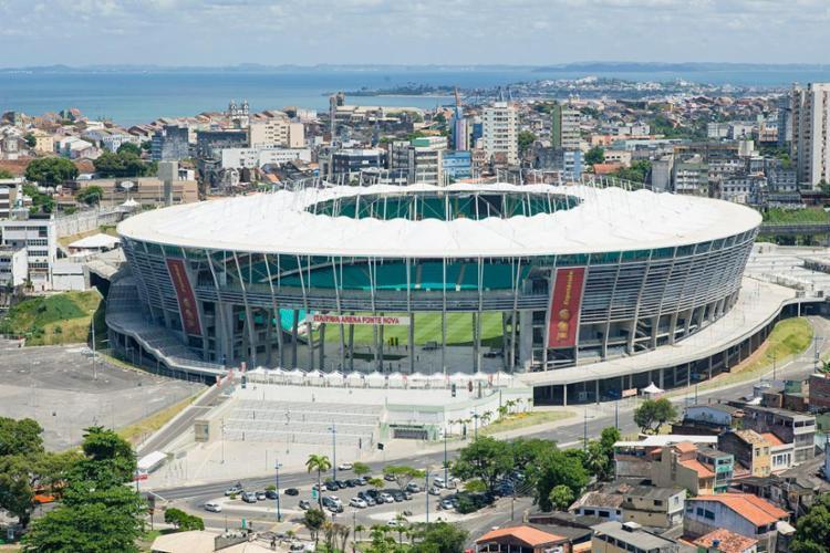 A Arena Fonte Nova foi palco dos jogos do Mundial de 2014 - Foto: Divulgação