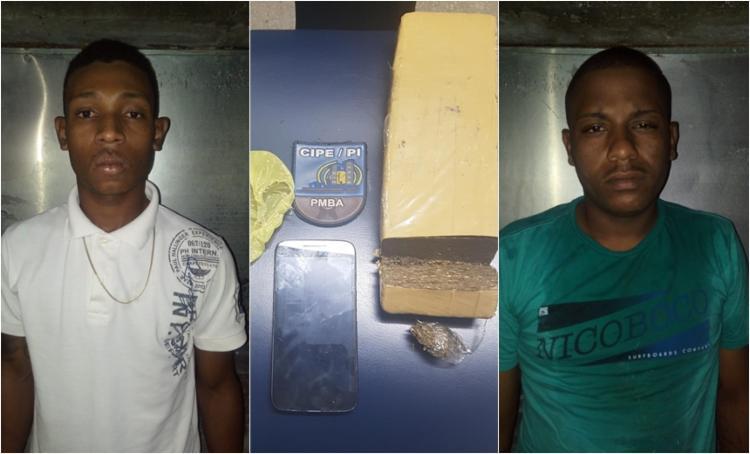 Os suspeitos foram presos com maconha e crack - Foto: Divulgação   SSP-BA